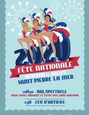 FETE NATIONALE A SAINT-PIERRE - GRAND SHOW ET FEUX D'ARTIFICE